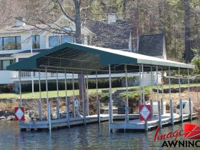 custom boathouse & dock canopies 6