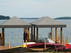 custom boathouse & dock canopies 7