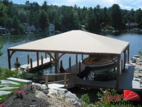 custom boathouse & dock canopies 12