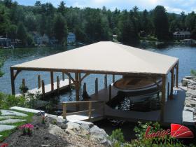 custom boathouse & dock canopies 12