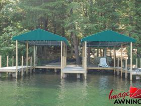 custom boathouse & dock canopies 1