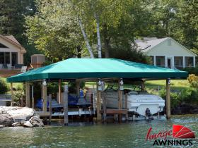 custom boathouse & dock canopies 8