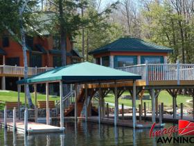 custom boathouse & dock canopies 4