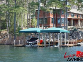custom boathouse & dock canopies 2