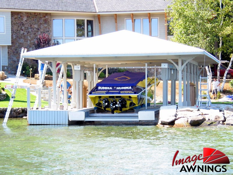 custom boathouse & dock canopies 1