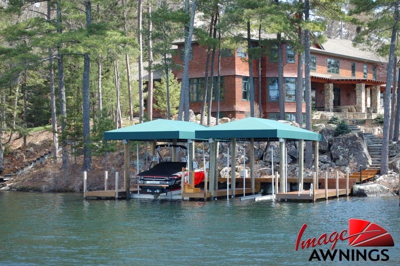 Image Awnings Custom Boathouse And Dock Canopies By